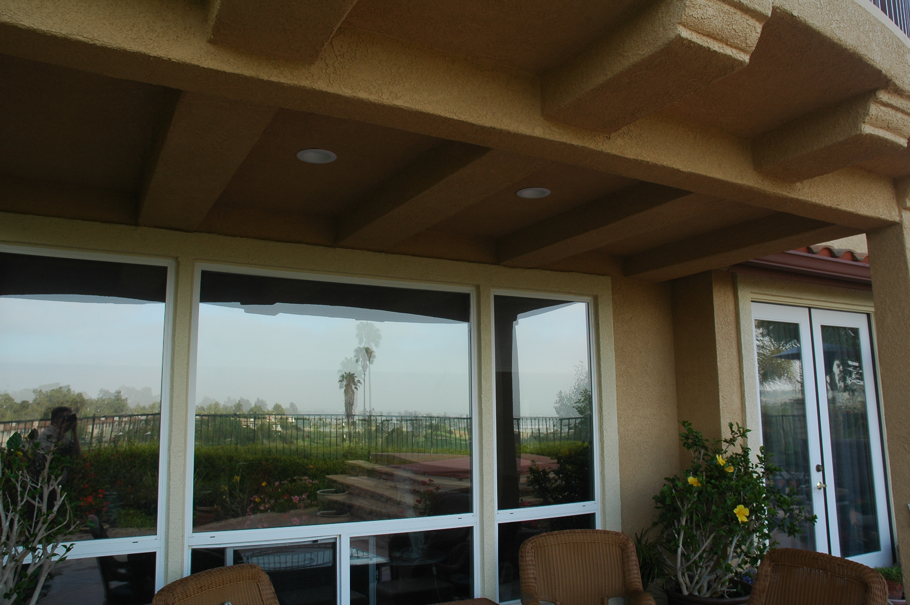 Under The Balcony, We Installed High Efficiency LED Lighting Between The Support  Beams To Illuminate The Patio Sitting Area. The Corbels Were Framed And ...