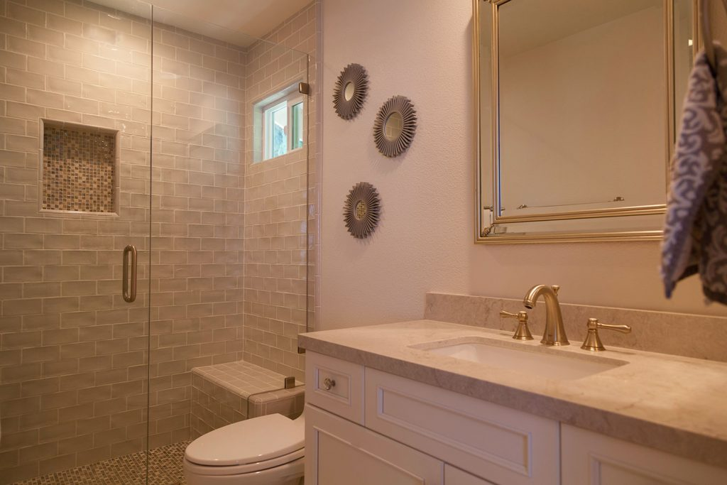 Beyond The Master Bath A Traditional Look For A Guest And Jack Jill Bathroom Remodel