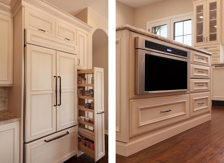 white-espresso-cabinets-appliances-microwave-fridge