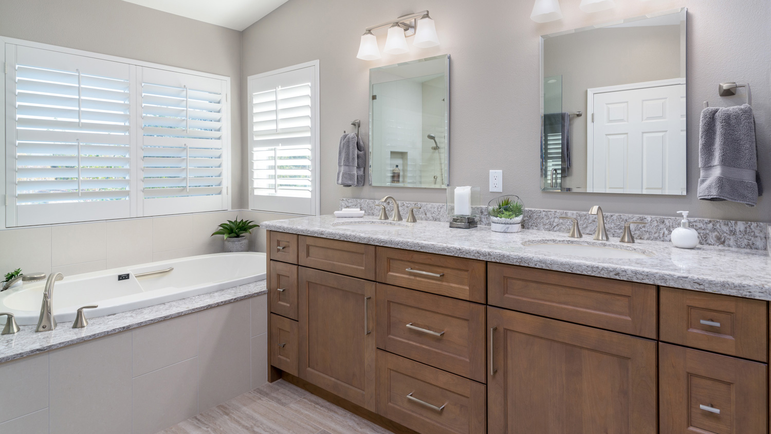 Featured Project: Tranquil Master Bathroom & Handsome Home Office Remodel